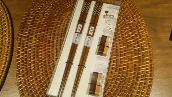 寄木箸・箸置きセット